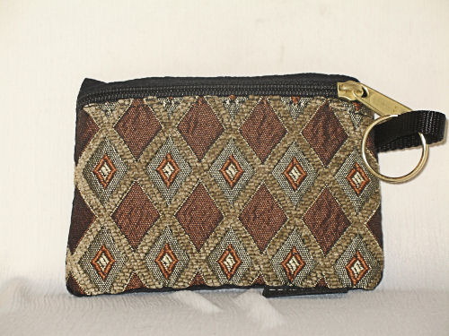 Brown Diamonds Change Purse